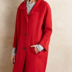 Red Brienne Anthropologie Coat MP NEW NWT E1-26